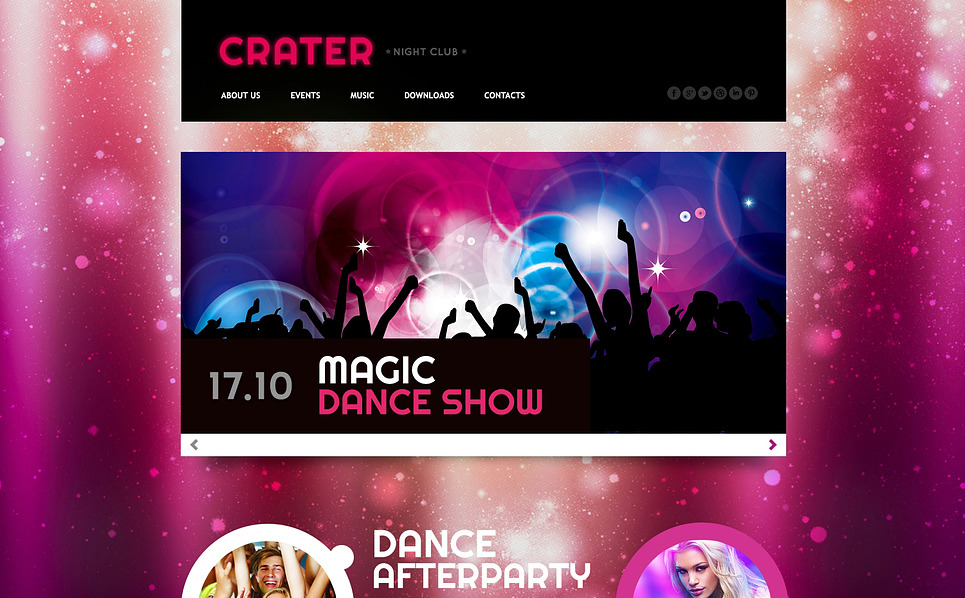 Responsive Website template over Nachtclub New Screenshots BIG