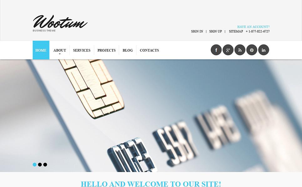 Responsive Website template over Outsourcing Bedrijf  New Screenshots BIG