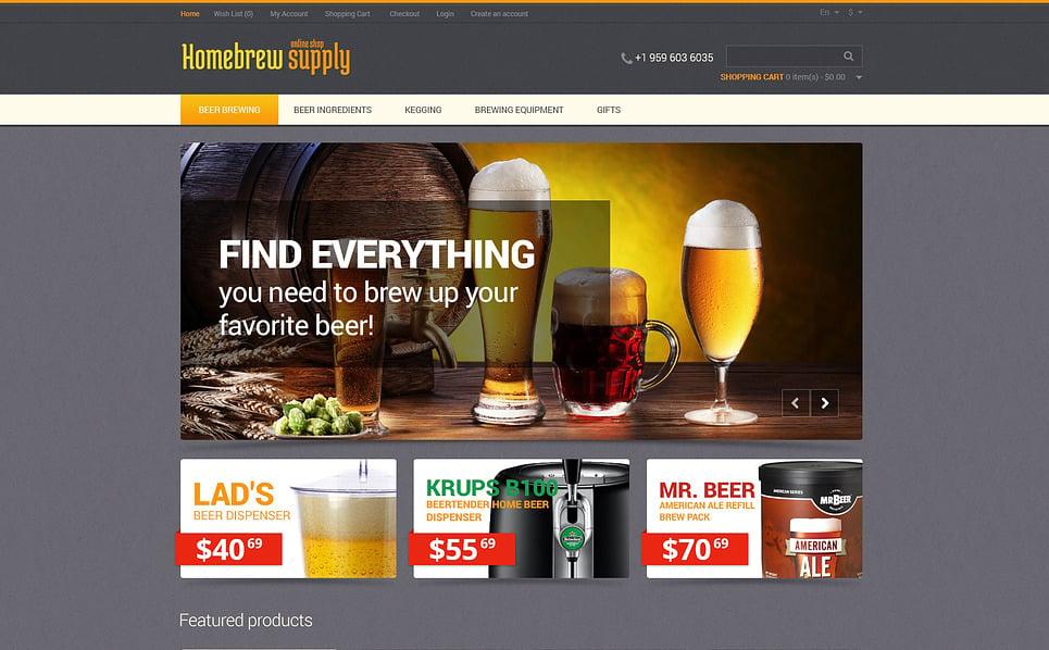 Responsive OpenCart Vorlage für  Brauerei New Screenshots BIG