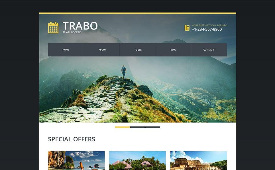 Responsive Website template over Reisbureau  New Screenshots BIG