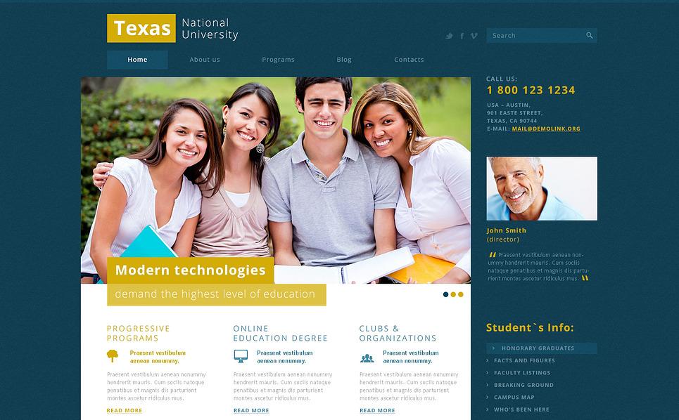 Responsive Joomla Template over Universiteit  New Screenshots BIG