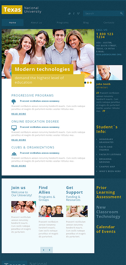 Joomla Theme/Template 47344 Main Page Screenshot