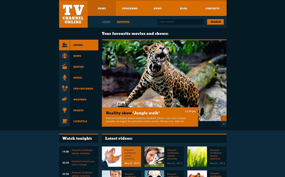 Адаптивний Шаблон сайту на тему tv канали New Screenshots BIG