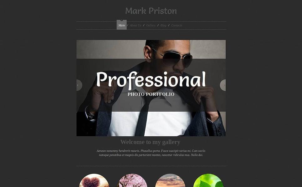 Template de Galeria de Fotos para Sites de Portfólio de Fotografo №47355 New Screenshots BIG