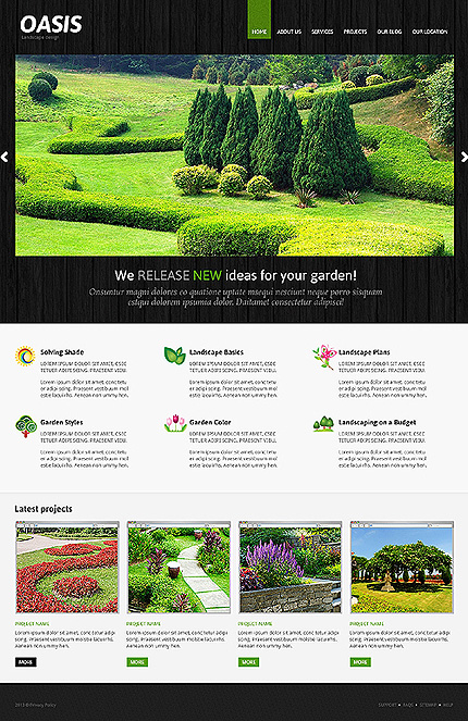 Joomla Theme/Template 47362 Main Page Screenshot