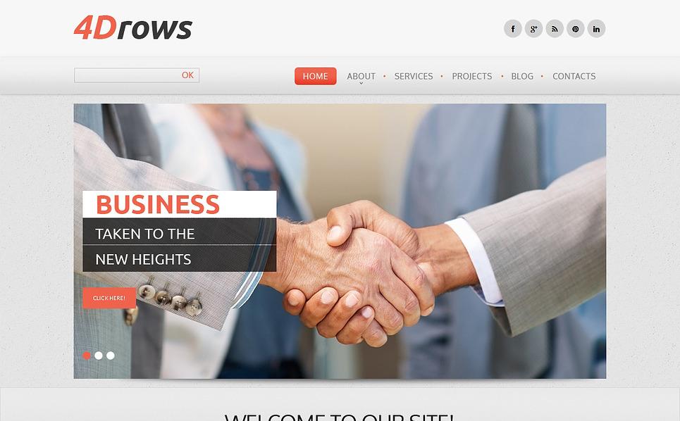 Responzivní Šablona webových stránek na téma Marketingová agentura New Screenshots BIG