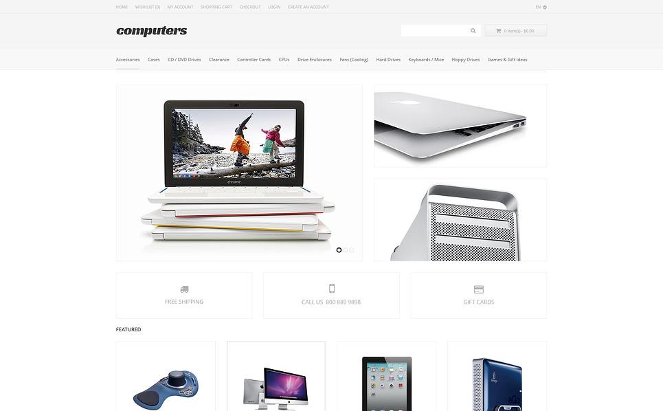Responsywny szablon OpenCart #47367 na temat: sklep komputerowy New Screenshots BIG