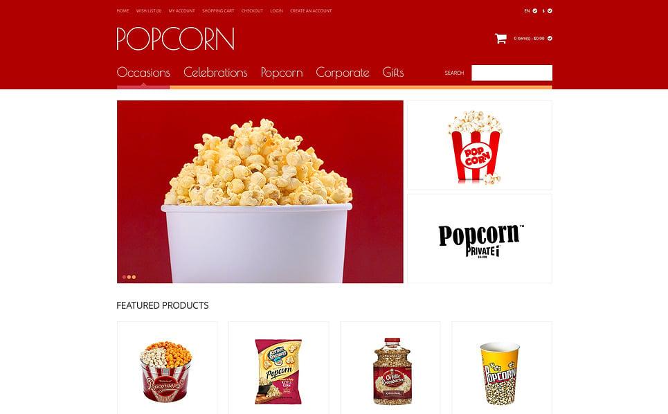 Template OpenCart  #47368 per Un Sito di Negozio di Alimentari New Screenshots BIG