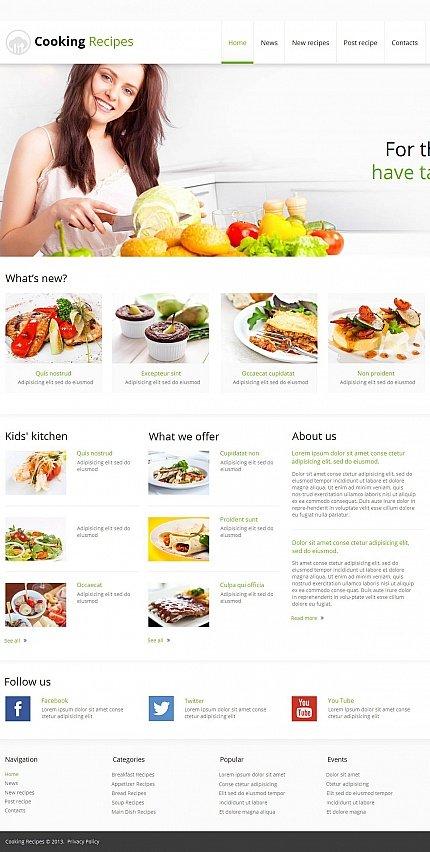 ADOBE Photoshop Template 47370 Home Page Screenshot