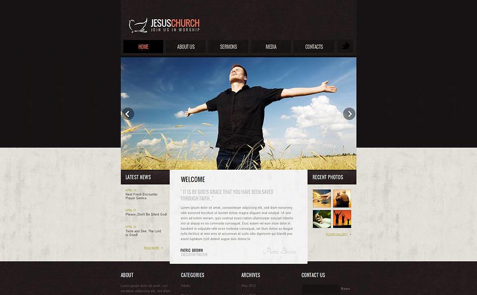 Szablon Moto CMS HTML #47372 na temat: chrześcijaństwo New Screenshots BIG