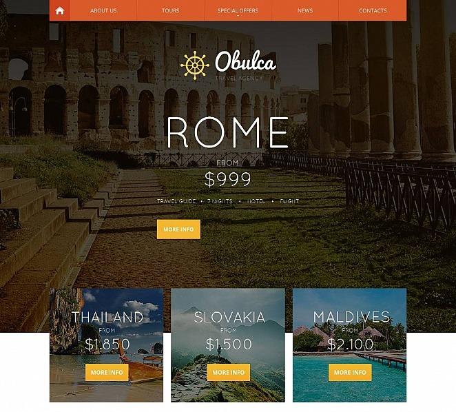 Szablon Moto CMS HTML #47373 na temat: biuro podróży i turystyki New Screenshots BIG