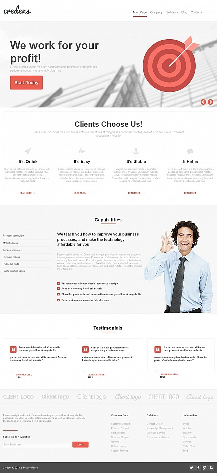 ADOBE Photoshop Template 47377 Home Page Screenshot