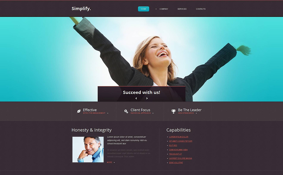 Premium Moto CMS HTML Template over Accounting Website New Screenshots BIG