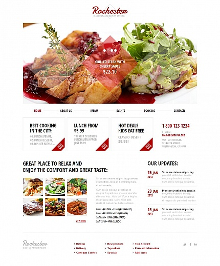 ADOBE Photoshop Template 47383 Home Page Screenshot