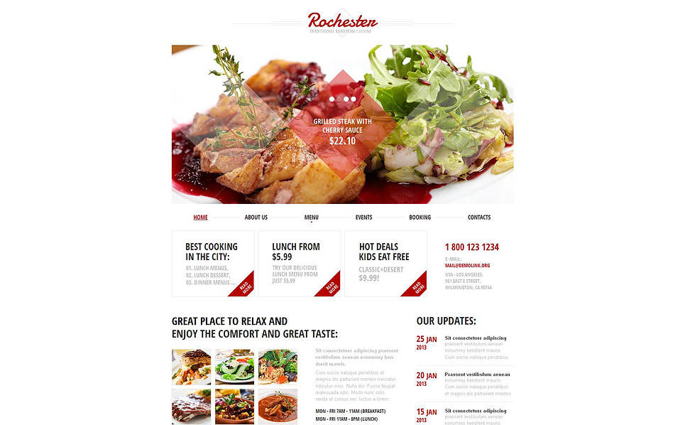 Premium Kafe ve Restoran  Moto Cms Html Şablon New Screenshots BIG