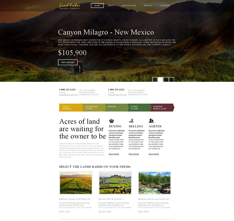 Website Template for Brokers Selling Lands - image