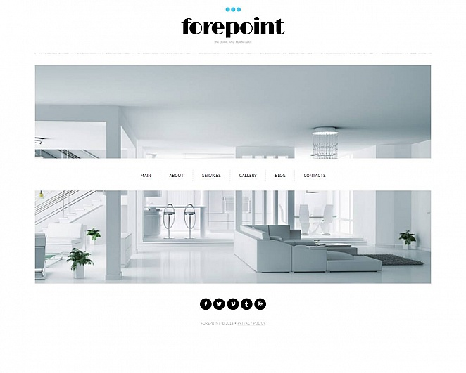 Interior Website Template with Clean Layout - image
