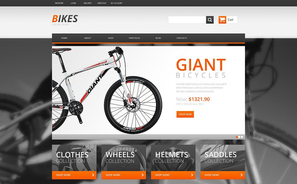 Template WooCommerce Responsive #47392 per Un Sito di BMX New Screenshots BIG