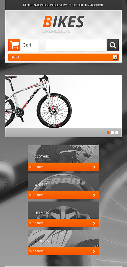 ADOBE Photoshop Template 47392 Home Page Screenshot