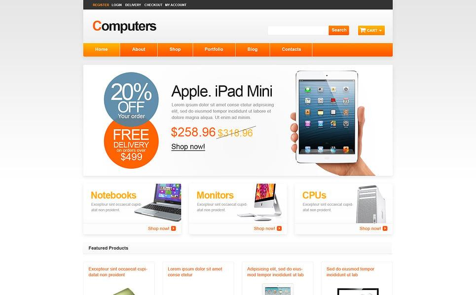 Responsives WooCommerce Theme für Computergeschäft  New Screenshots BIG