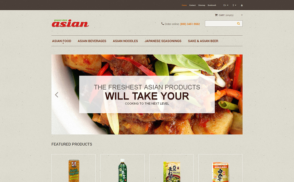 Responsives PrestaShop Theme für Lebensmittelgeschäft  New Screenshots BIG
