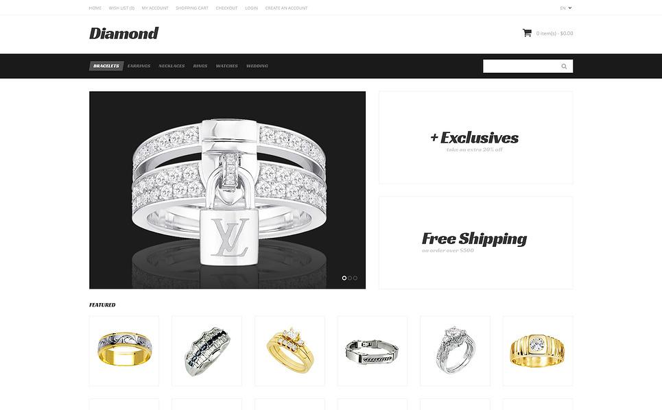 Responsywny szablon OpenCart #47399 na temat: biżuteria New Screenshots BIG