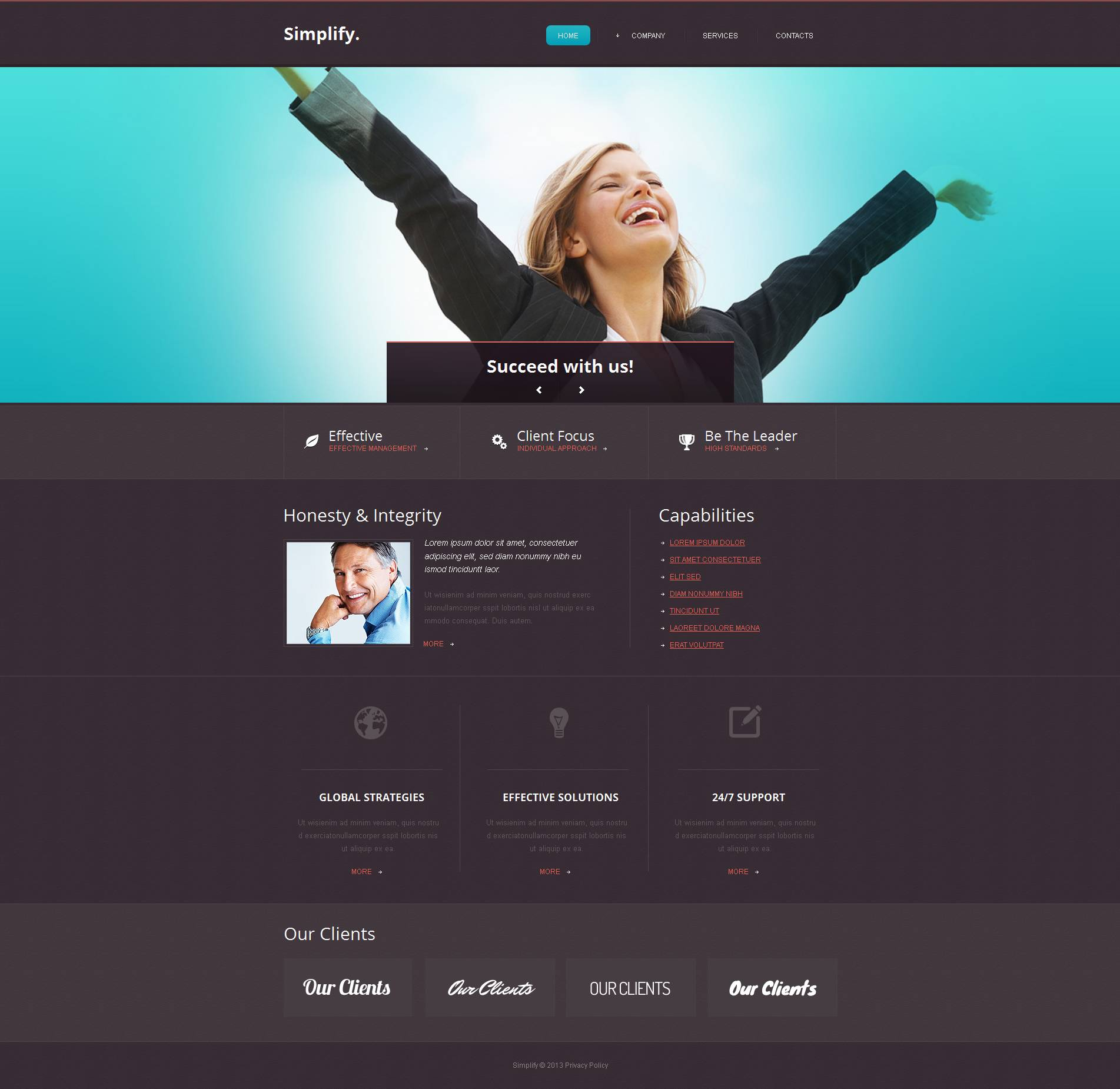 Accounting Website Moto CMS HTML Template