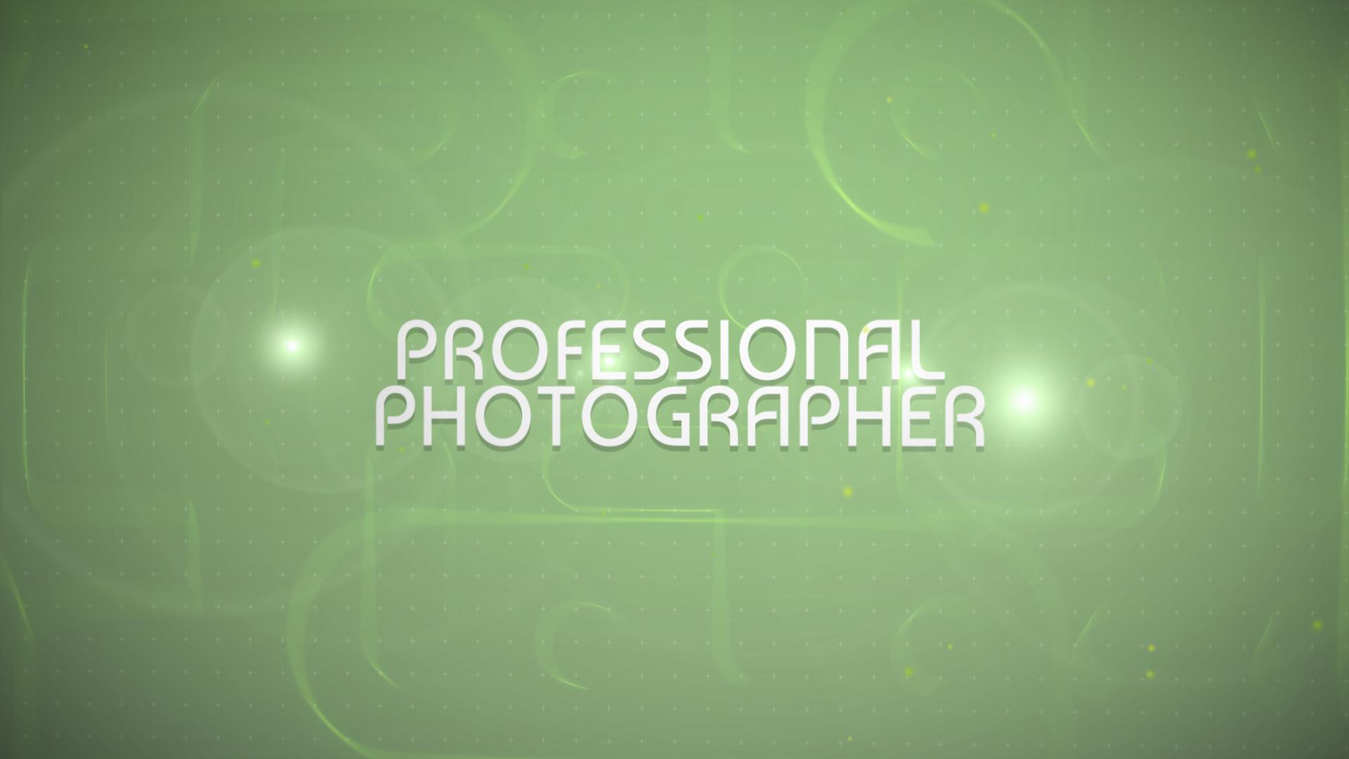 After Effects Intro #47309 para Sitio de Portafolios de fotógrafos