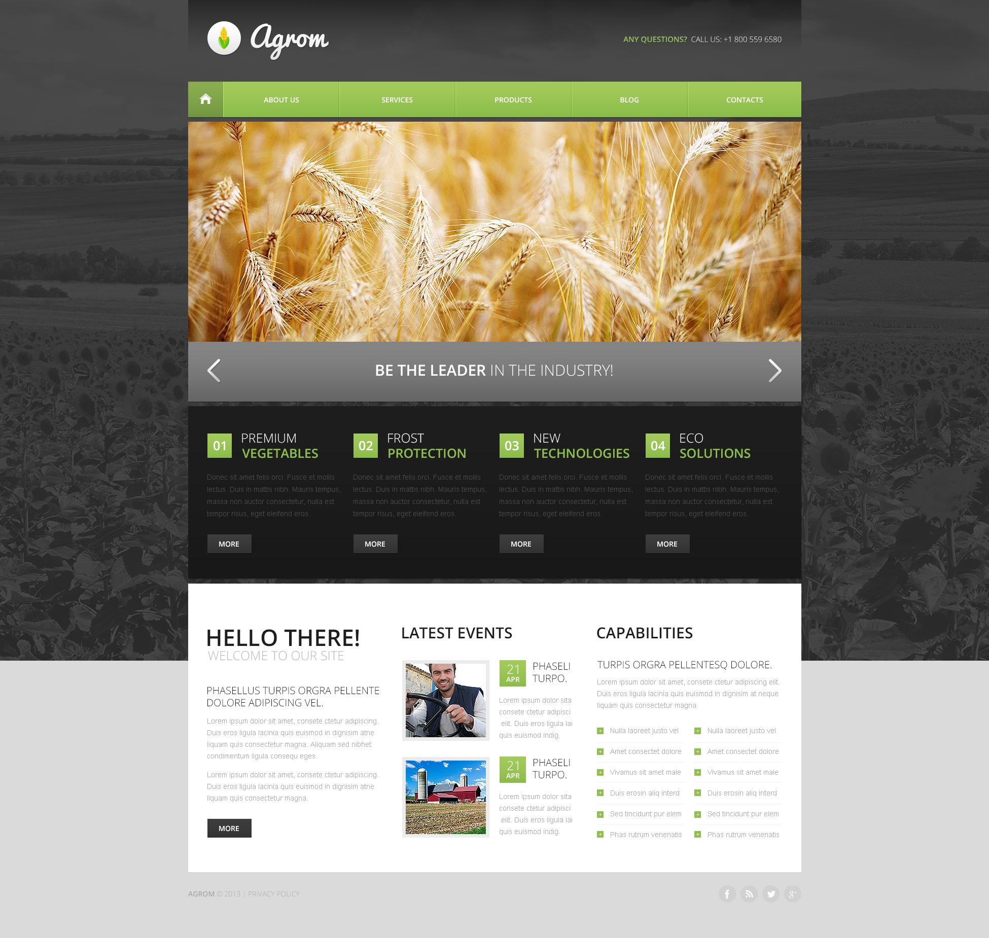 Agriculture Drupal Template