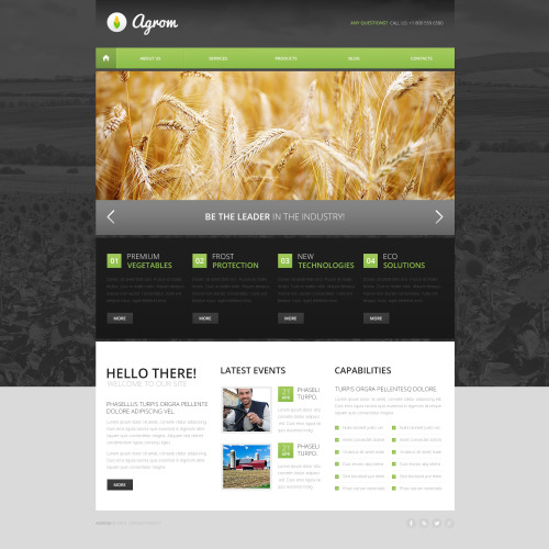 Agrom - HTML5 Drupal Template