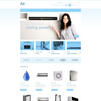 Air Conditioners Magento Theme #47323