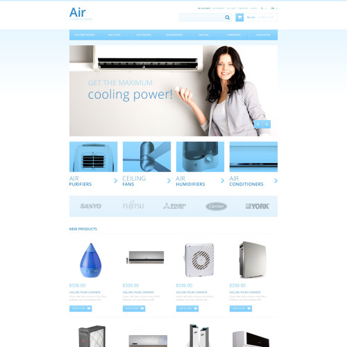 Air Conditioners - Responsive Magento Template