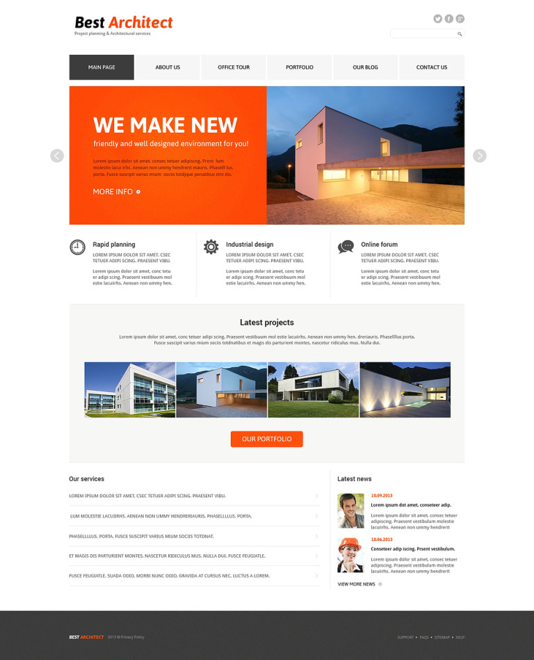 Architecture Responsive Joomla Template New Screenshots BIG