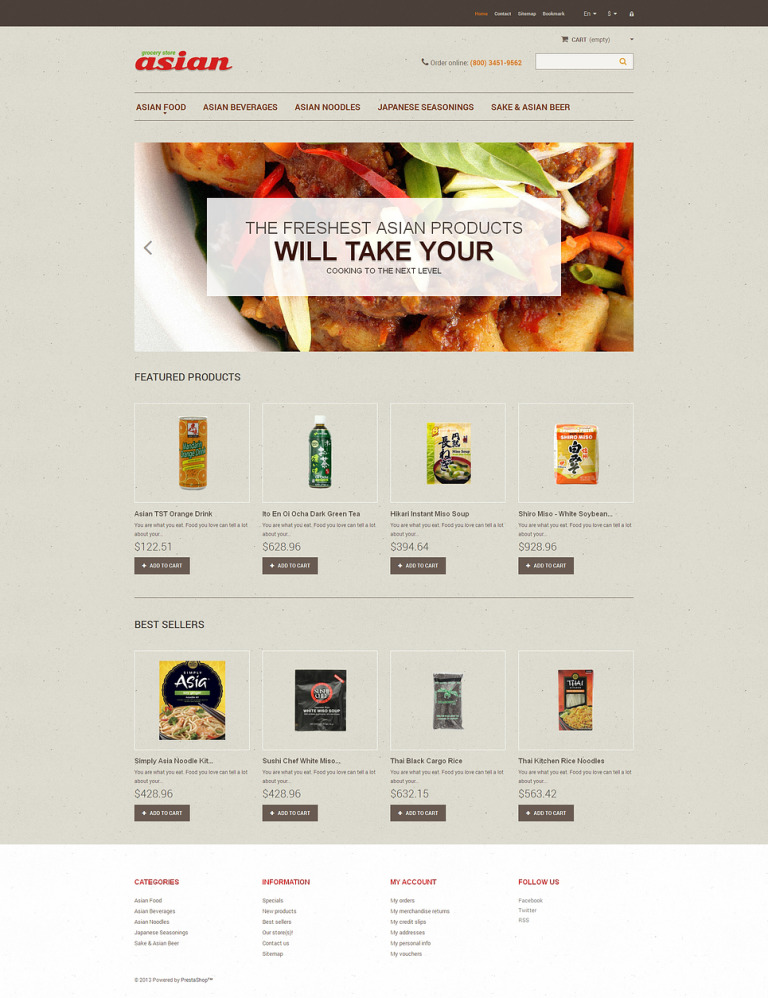Asian Grocery PrestaShop Theme New Screenshots BIG