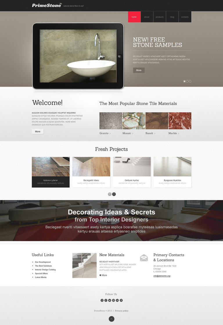 Beautiful Interior Design Joomla Template New Screenshots BIG