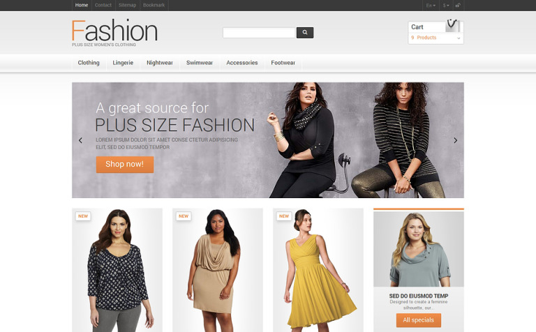 Clothes for Plump Women PrestaShop Theme