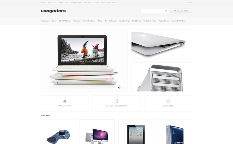 Computer Apparel OpenCart Template