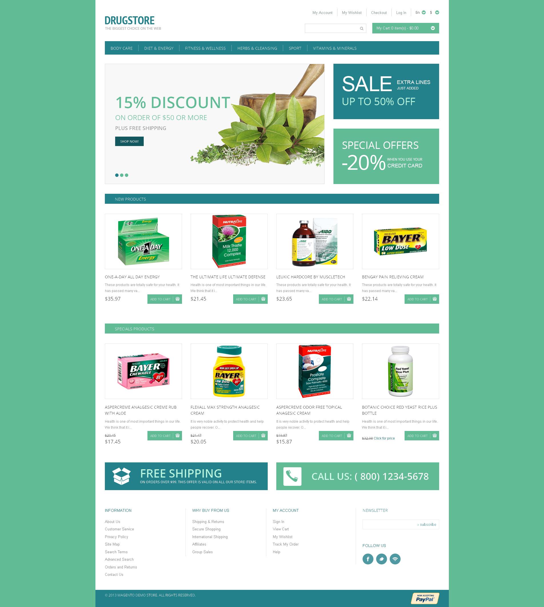 Drugstore Magento Theme - screenshot
