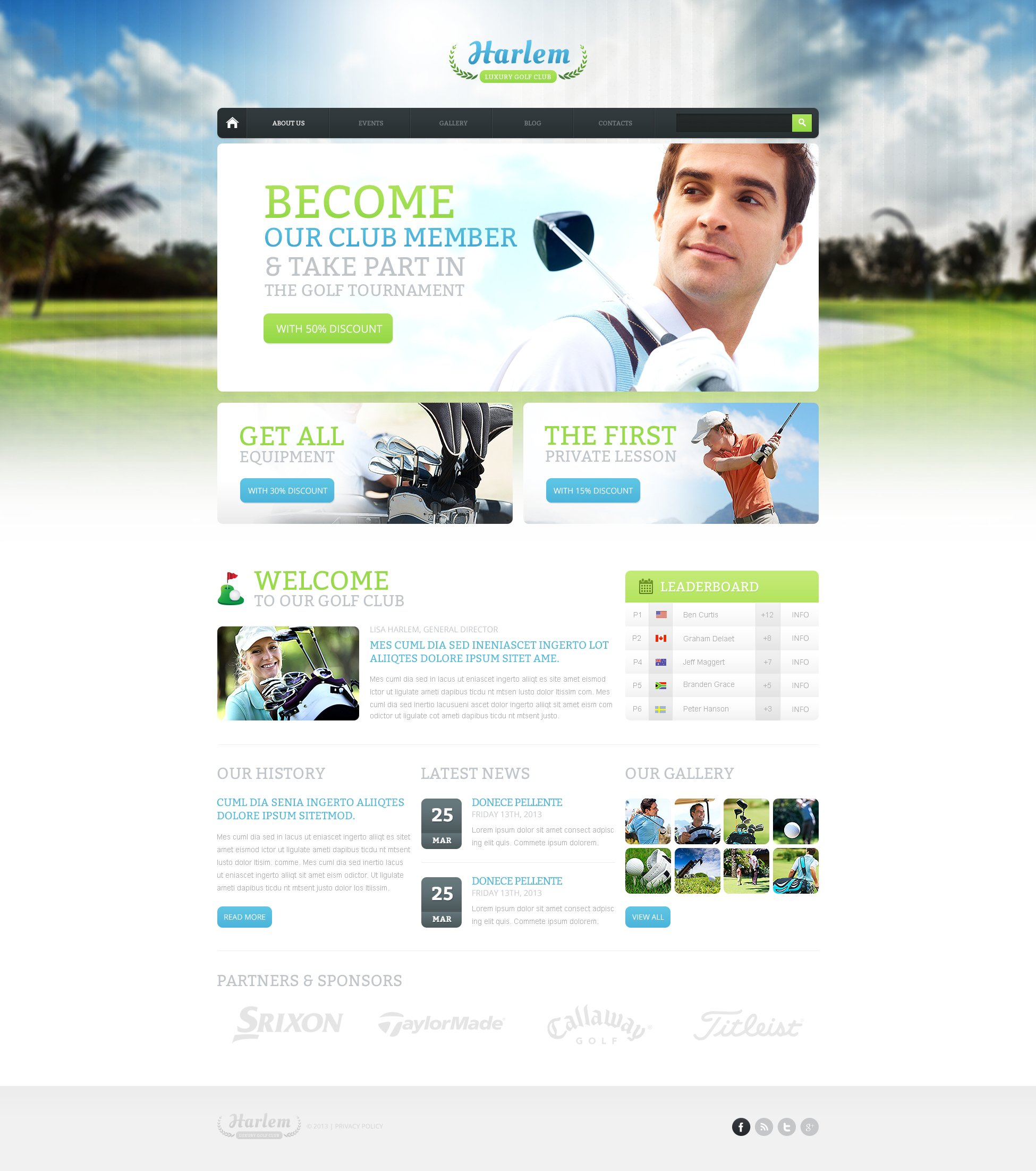 "Drupal Vorlage namens ""Golf for Better Marketing"" #47329"