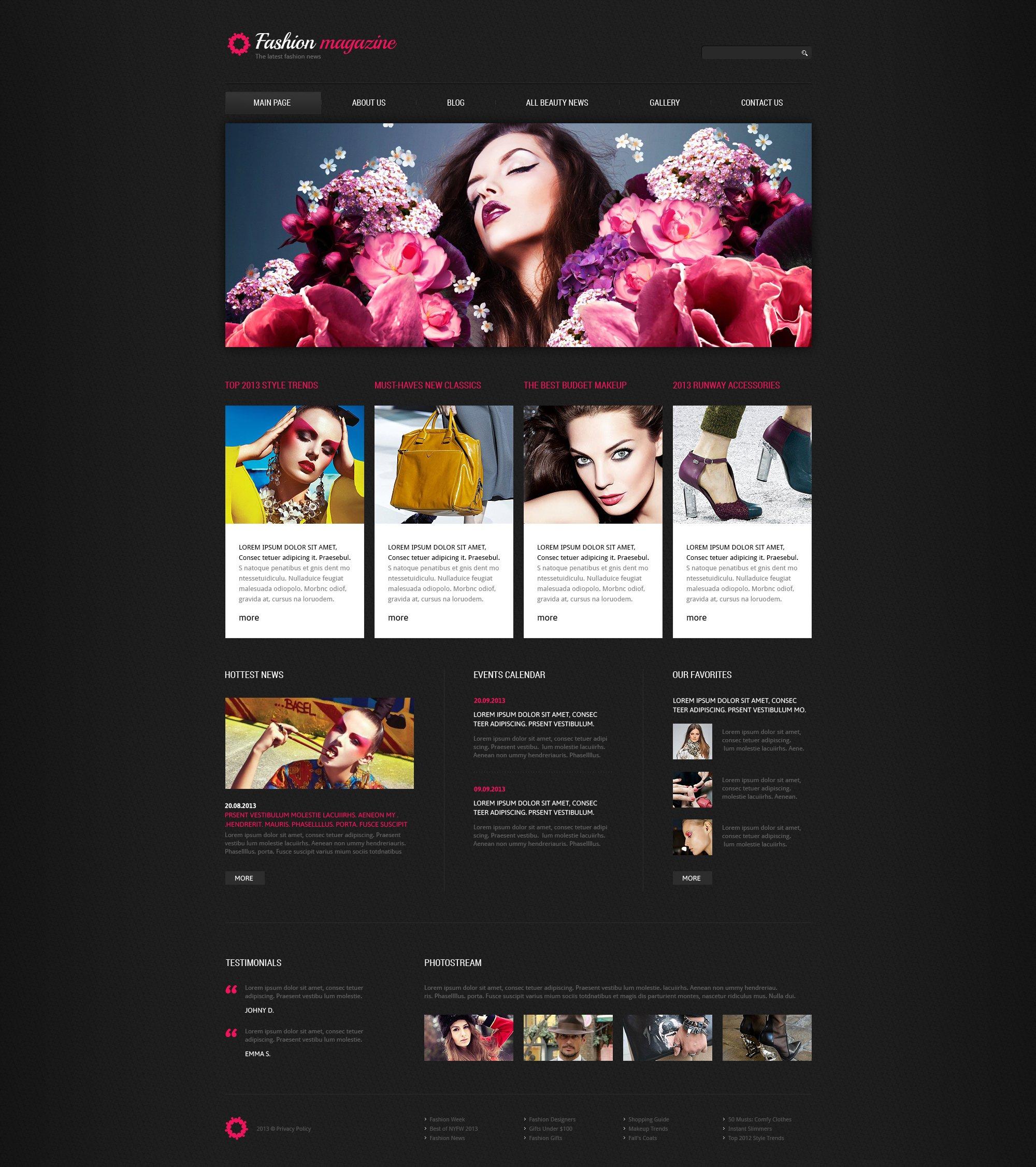 Fashion Blog Responsive Joomla Template - screenshot