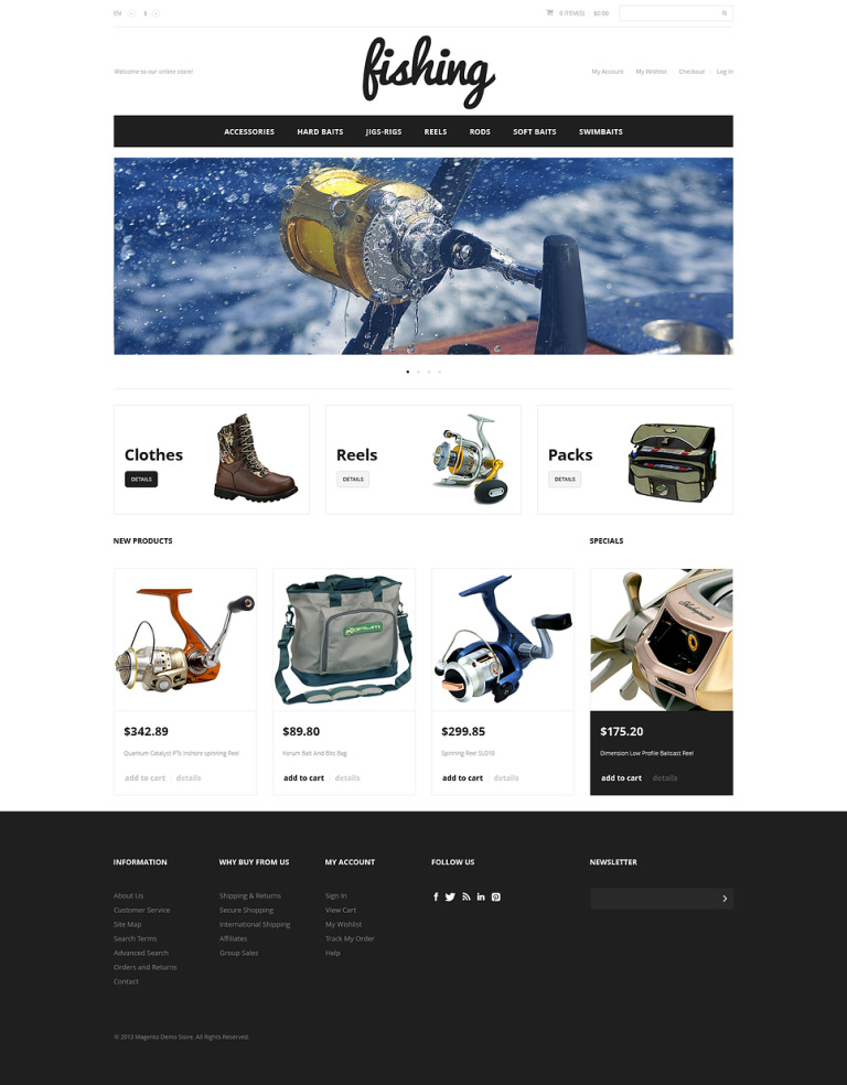 Fishing Sport Magento Theme New Screenshots BIG