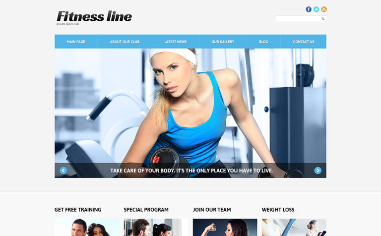 Fitness Club for Profit Joomla Template