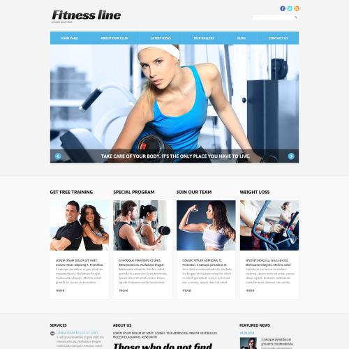 Fitness Line - Responsive Joomla! Fitness Template