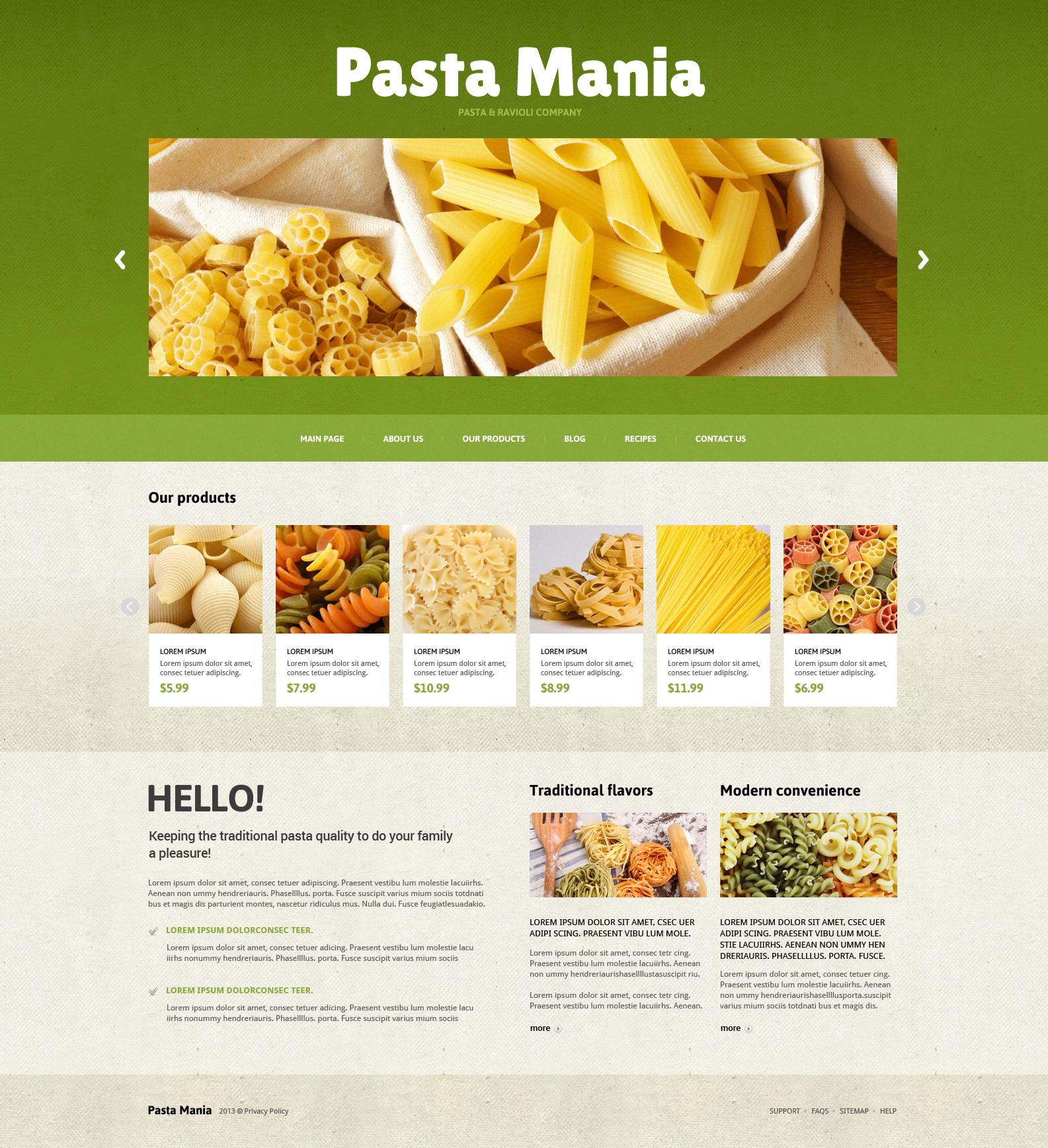 Food Store Responsive Joomla Template - screenshot