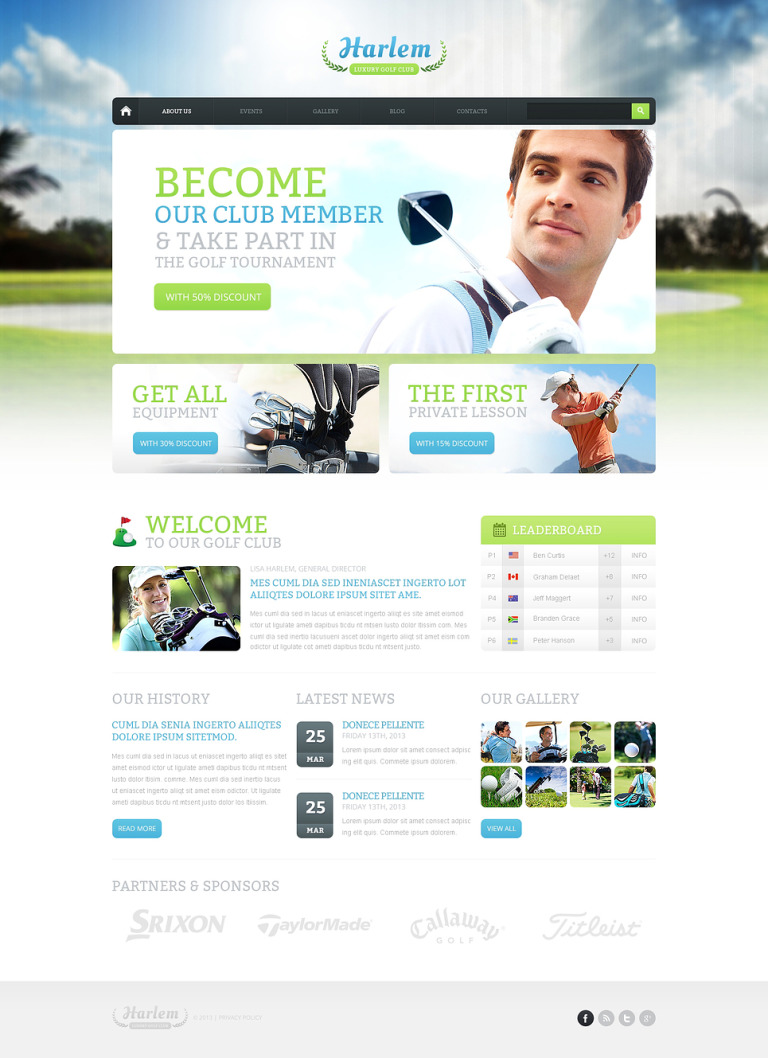 Golf for Better Marketing Drupal Template New Screenshots BIG
