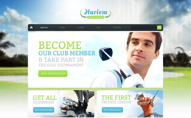 Golf for Better Marketing Drupal Template