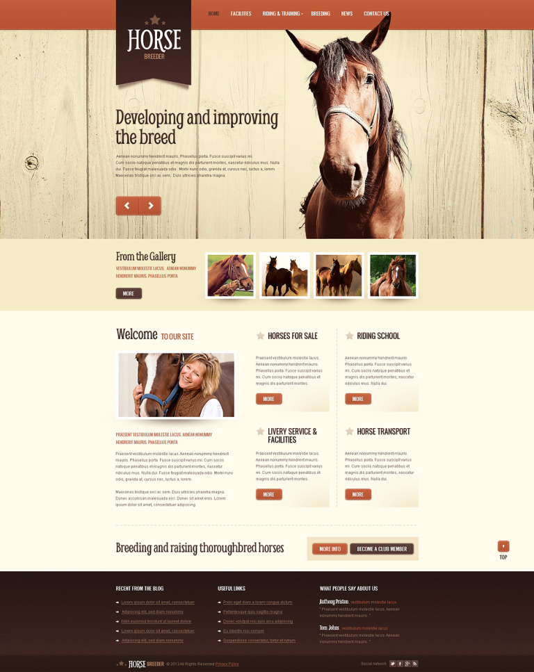 Horse Spirit Drupal Template New Screenshots BIG