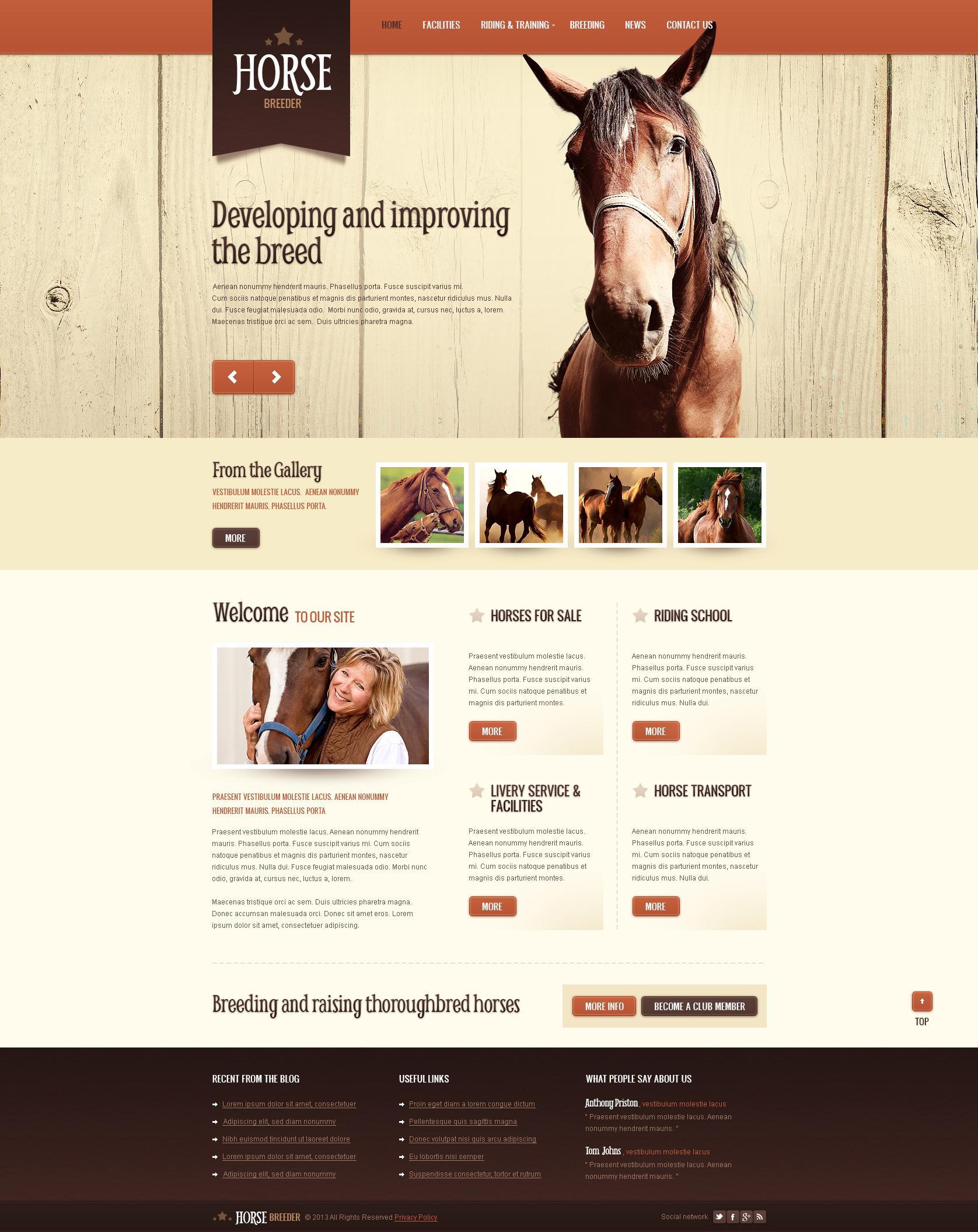 Horse Spirit Drupal Template - screenshot