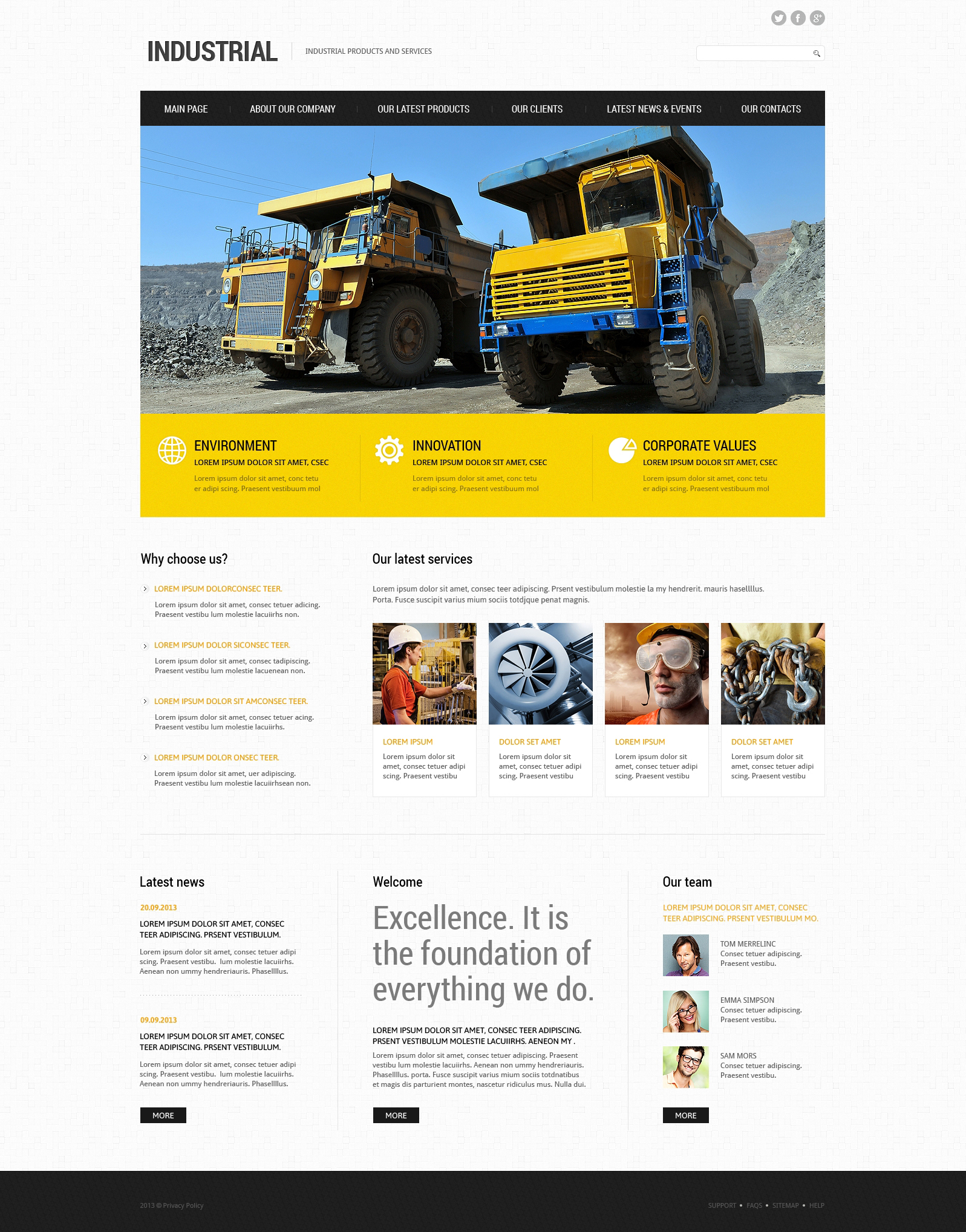 Industrial Responsive Joomla Template - screenshot