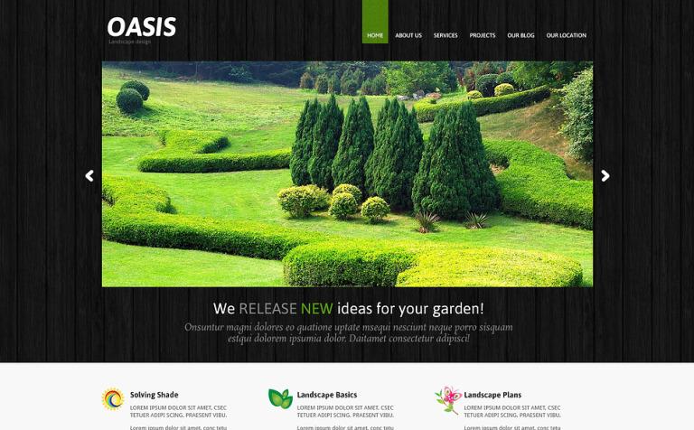 Landscape Design Responsive Joomla Template #47362